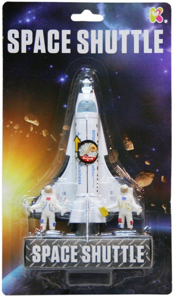 Nasa Large Shuttle Die cast With Astronaught Figures & Working Action Parts