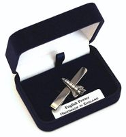 Space Shuttle Pewter Tie Clip Slide Handmade In England Gift Boxed