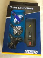 Die Cast Metal Jet Fighters Launch Action Flying Set 3 Aircraft