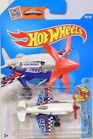 Hot Wheels Mad Propz Sky Show Aircraft Stunt Plane (White & Blue)