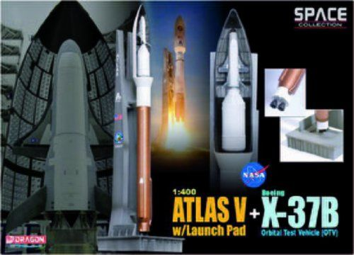 Atlas V Rocket with Launch Pad and X-37B OTV Diecast Model Spacecraft