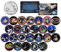 SPACE SHUTTLE ENDEAVOR MISSIONS Colorized FL State Quarters US 25-Coin Set NASA