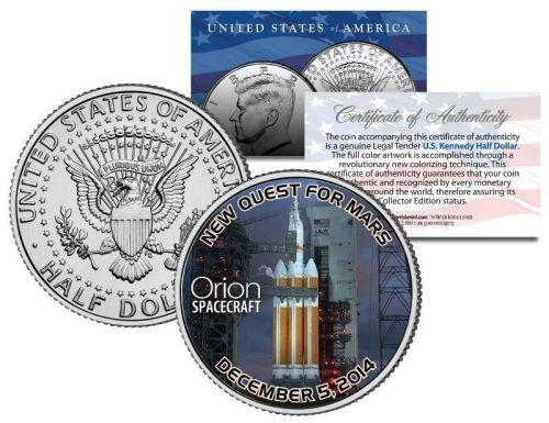 ORION SPACECRAFT Exploration Flight Test 2014 JFK Half Dollar US Coin SPACE