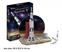 Foam NASA Saturn V Rocket 3D Puzzle Model Display Great Detail