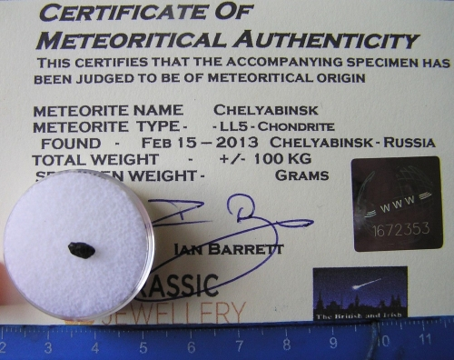 Little Chelyabinsk Meteorite Individual - The legendary Russian Fireball Sp