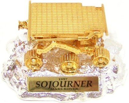 24k Gold & Silver Rare Collectors Edition NASA JPL SOJOURNER Mars Rover Model