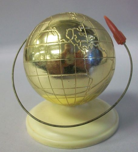 Rare 1961 USSR Soviet Russian 1st man in space Commemorative Globe Model w/
