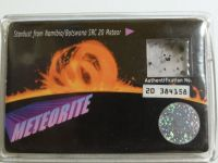 Meteorite particles stardust collectors card from namibia/botswana src20 meteor