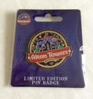 Alton Towers Theme Park Limited Edition Large Pin Badge Collectable