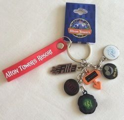 Alton Towers Theme Park Limited Edition Main Rides Charm Keyring Collectabl