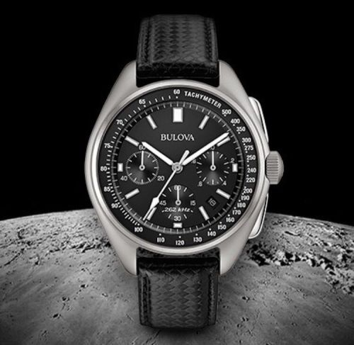 Commemorative NASA Apolllo 15 Bulova Men's Designer Moon Lunar Watch Leathe