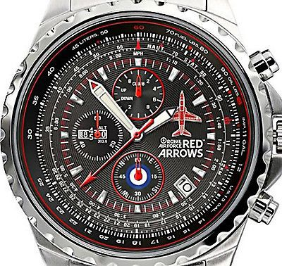 Officially Licensed RAF Red Arrows Hawk T1 Limited Edition Chronograph Watc