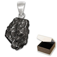 Genuine Clever Schmuck Meteorite Real Shooting Star Pendant With Solid 925 Stirling Silver Loop & Hallmarks