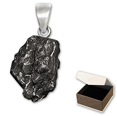 Genuine Clever Schmuck Meteorite Real Shooting Star Pendant With Solid 925