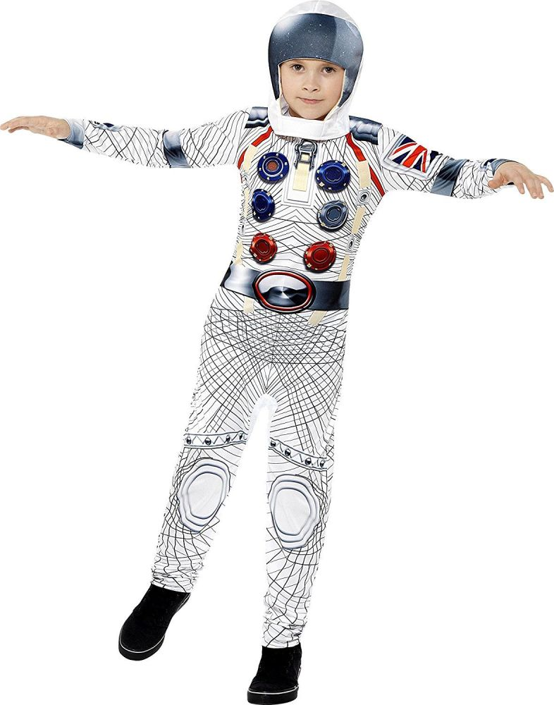 Deluxe Spaceman Boys Fancy Dress Astronaut Suit Nasa Galaxy Childrens Kid C