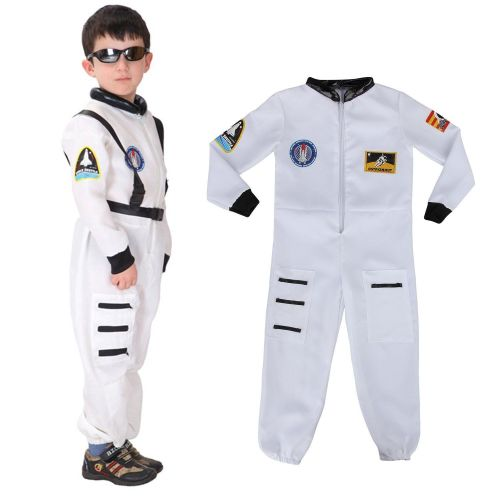 Child Kids NASA Astronaut Spaceman Fancy Dress Up Outfit Uniform Cosplay Co