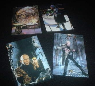 Set Of 4 Amazing The Crystal Maze Richard O'Brien Glossy Photo's TV Collect