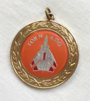 Tornado Fighter Aircraft Medallion Pendant Medal Very Nice Collectable Gold Colour