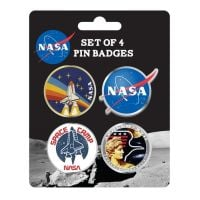 Enamel Badge Set Of 4 NASA (Badges) Apollo Space Program