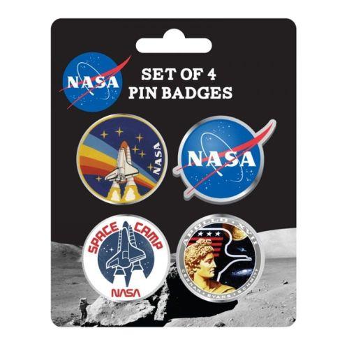 Enamel Badge Set Of 4 NASA (Badges) Apollo Space Program
