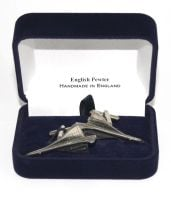 Concorde Jet Plane Cufflinks in Quality English Pewter Gift Boxed Aviation Aircraft