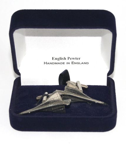 Concorde Jet Plane Cufflinks in Quality English Pewter Gift Boxed Aviation