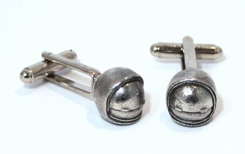 Apollo 11 NASA Neil Armstrong Buzz Aldrin Space Astronaut Helmet Cufflinks