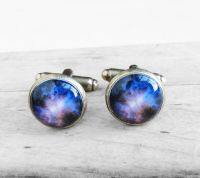 Cufflinks With Galaxy Stars Nebula Deep Space Design Amazing Style Nasa