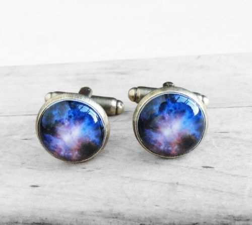 Cufflinks With Galaxy Stars Nebula Deep Space Design Amazing Style Nasa