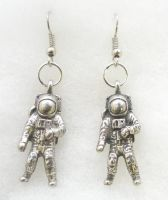 Pair Of Space Astronaut Earrings in Fine English Pewter Gift Boxed