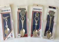 4 Rare NASA Space Collector Spoons Set Shuttle Apollo kennedy Space Center