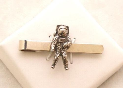 Astronaut Tie Clip (slide)Fine English Pewter, Gift Boxed Space NASA