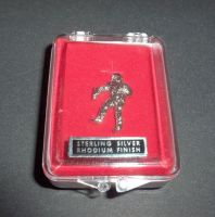 Astronaut Pin Badge Stirling Silver With Rhodium Finish In Display Case Very Rare