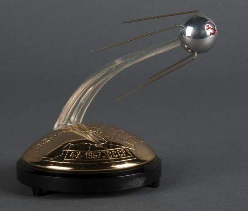 Large Desktop USSR Russian Space Program Sputnik Model With Musical Anthem
