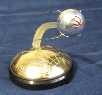 Large Desktop USSR Russian Space Program Sputnik Model With Musical Anthem Sound Rare