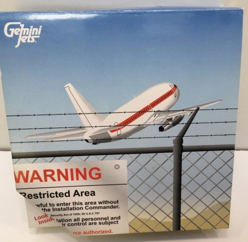 BOEING 737-253 JANET AIRLINES Area 51 Air Force UFO Base 1:400 Diecast Plan
