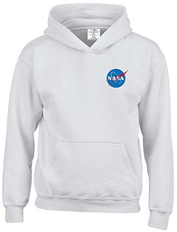 NASA Space White Hoodie Top Jumper Age 11 to 13 New Quality