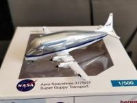 NASA Herpa Very Rare NASA Aero Spacelines Airbus 377SGT Super Guppy Aircraft Model 1:500 Scale