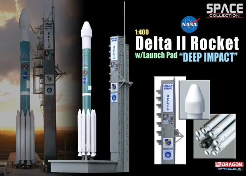 Delta II Rocket and Launch Pad Deep Impact Mission 1:400 Scale Nasa Diecast