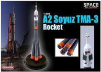 Rare Space Model Russian A2 Soyuz TMA-3 Rocket ussr Dragon Space Collection Diecast