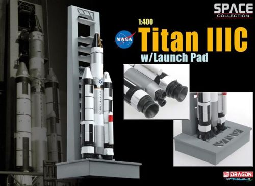 Space Collection 1/400 SCALE Titan IIIC W/Launch Pad Maiden Flight Nasa