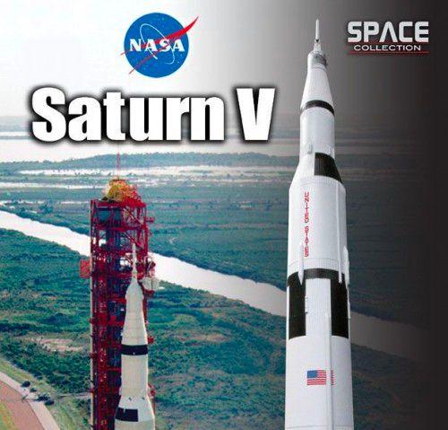 Dragon Space Collection NASA Apollo Saturn V Rocket Diecast Model