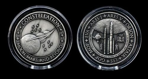 NASA Space Constellation Medallion Medal Coin Very Rare