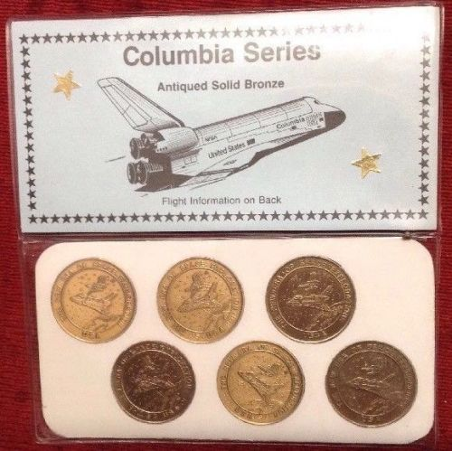 NASA Columbia Series Space Shuttle Antique Solid Bronze Medallion Ltd Numbe