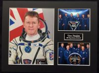 Tim Peake UK ESA Astronaut On Soyuz Rocket In Framed Display