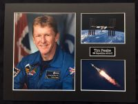 Tim Peake UK ESA Astronaut On Soyuz Rocket In Framed Display 2