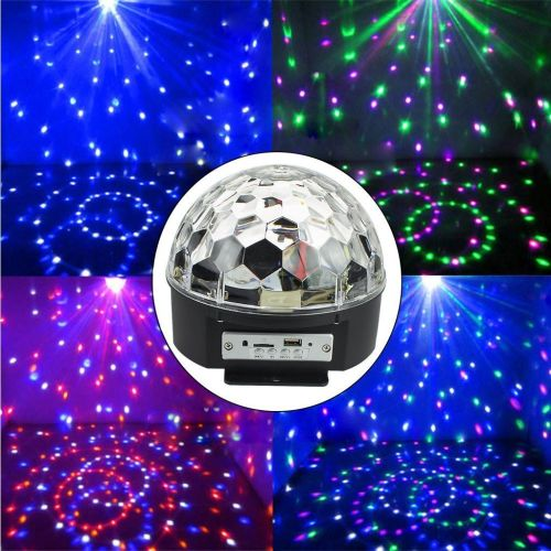 Multi Colour Moving LED Mirror Ball Bright LED Effect Lighting Large Apread
