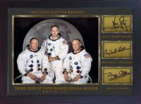 Neil Armstrong Michael Collins Buzz Aldrin signed Apollo 11 photo Autograph Print Mounted & Framed