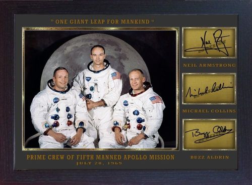 Neil Armstrong Michael Collins Buzz Aldrin signed Apollo 11 photo Autograph