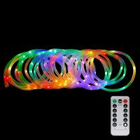 LED Dimmable Rope Lights, 10m 120 LEDs Waterproof 8 Modes, Battery Powered, Strip Lights
